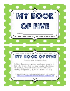 K.OA.3 My Book of Five