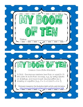 K.OA.3 My Book of Ten