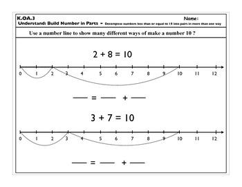 K.OA.3 Operations and Algebraic Thinking K.OA