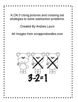 K.OA.3 Using drawing and crossing out strategies to subtract within 5