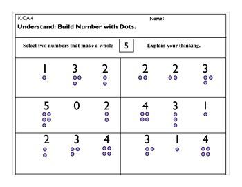 K.OA.4 Operations and Algebraic Thinking