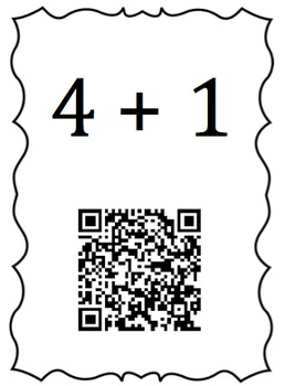 K.OA.5 Sums to 5 Scavengers Hunt with QR Codes