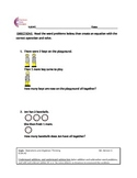 K.OA.A2 Word Problems Kindergarten Common Core Math Worksheets K.OA.2