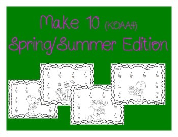 K.OA.A.4 Make 10 (Spring/Summer Edition)