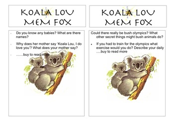 KOALA LOU QUESTION BOOKMARK