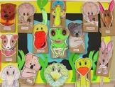 KOALA PAPER BAG CRAFT PUPPETS SAMPLER AUSSIE ANIMALS MUSIC