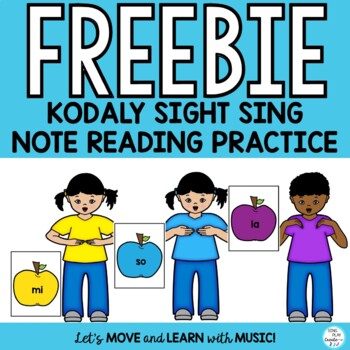 Music Freebie: Kodaly Sight Singing Practice so-mi-la  with Curwen Hand Signs