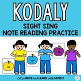 Music Freebie: Kodaly Sight Singing Practice so-mi-la  with Curwen Hand Signs