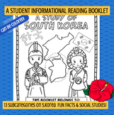 KOREA - A Study of South Korea – A 20 Page Nonfiction Country Study Booklet
