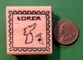KOREA Country/Passport Rubber Stamp