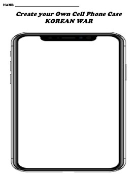 KOREAN WAR CREATE YOUR OWN CELL PHONE COVER