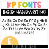 KP Fonts: Bold Handwriting