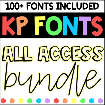 Fonts for Commercial Use- KP Fonts Bundle
