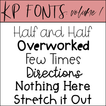 KP Fonts Volume 1- Fonts for Personal and Commercial Use