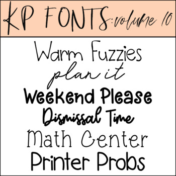 Fonts for Commercial Use-KP Fonts Volume 10