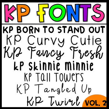 KP Fonts Volume 2-Fonts for Personal and Commercial Use