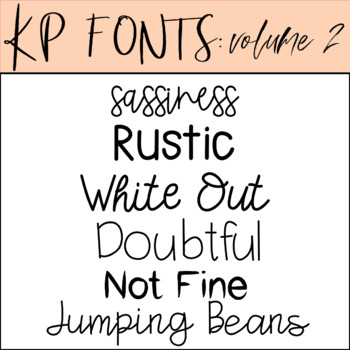 Fonts for Commercial Use-KP Fonts Volume 2