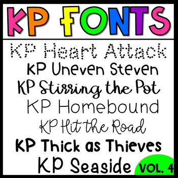 KP Fonts Volume 4-Fonts for Personal and Commercial Use