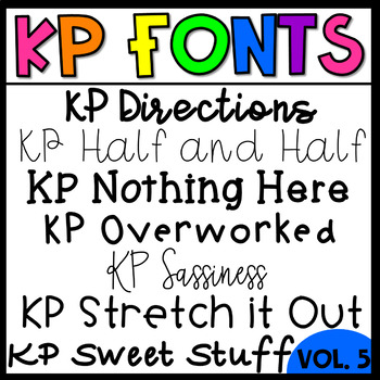KP Fonts Volume 5-Fonts for Personal and Commercial Use