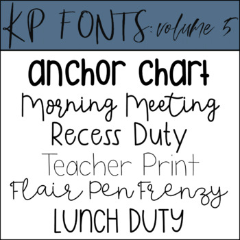Fonts for Commercial Use-KP Fonts Volume 5