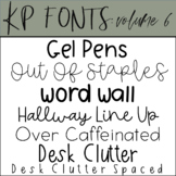 Fonts for Commercial Use-KP Fonts Volume 6