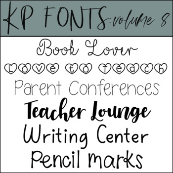KP Fonts Volume 8- Fonts for Personal and Commercial Use