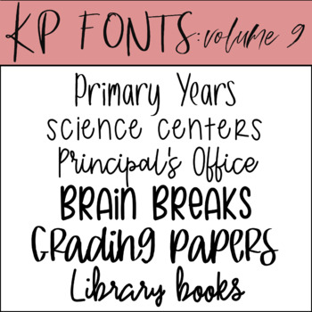 KP Fonts Volume 9- Fonts for Personal and Commercial Use