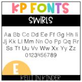 KP Fonts: Swirls
