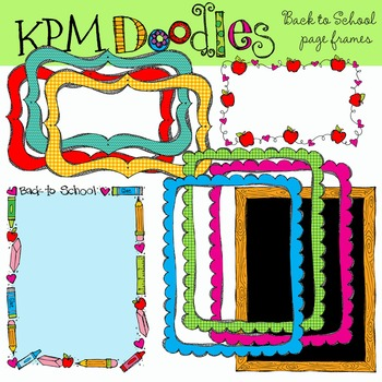KPM Back to School Page Borders