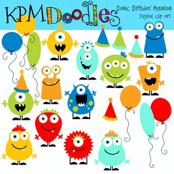 KPM Basic Birthday  Monsters