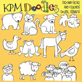 KPM Bear and Friends stamps