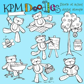 KPM Bears at School Stamps