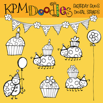 KPM Birthday Bugs Stamps