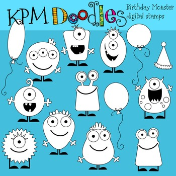 KPM Birthday  Monsters stamps
