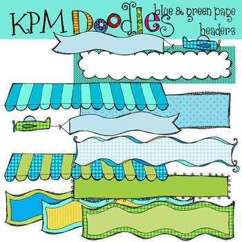 KPM Blue and Green Headers