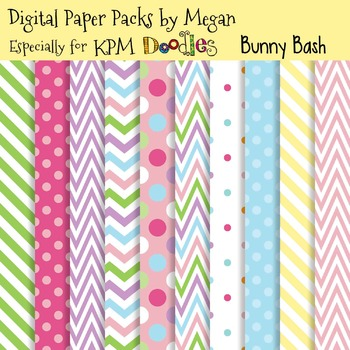 KPM Doodles Bunny Bash Easter Spring Papers