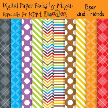 KPM Doodles Bear and Friends Papers