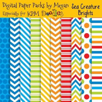 KPM Doodles Bright Sea Creatures Papers
