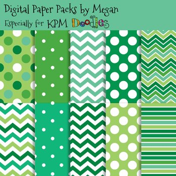 KPM Doodles St. Patrick's Day Monsters Papers