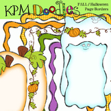 KPM Fall Halloween page borders