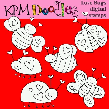 KPM Love Bugs Stamps