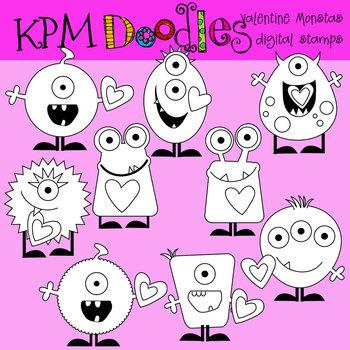 KPM Love Monster stamsp