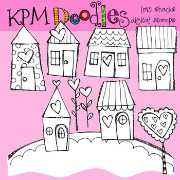 KPM Love Shacks Stamps