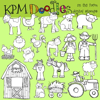 KPM On the Farm Stamps