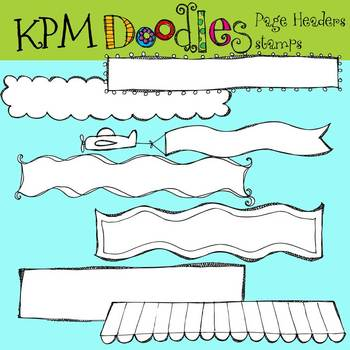 KPM Page Header stamps