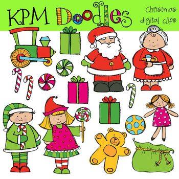 KPM Santa and Mrs Clause Clip Art