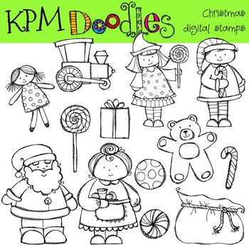 KPM Santa and Mrs Clause stamps