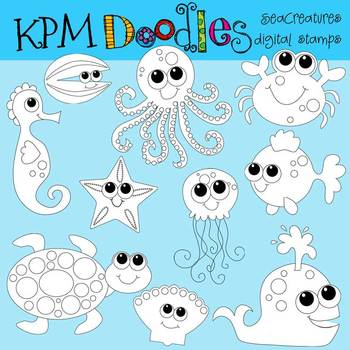 KPM Sea Creatures Stamps