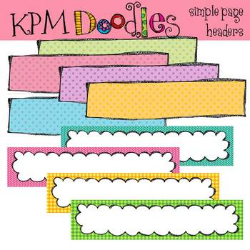 KPM Simple Headers