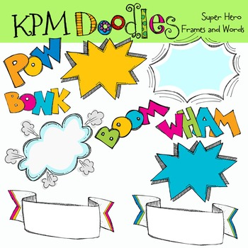KPM Super Heros Frames and words